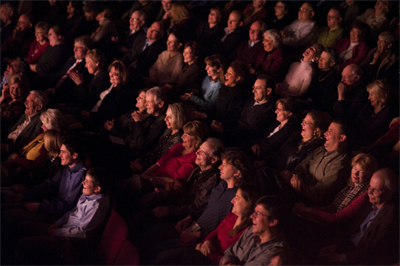 Alden Theatre Audience; Photo by Lisa Helfert